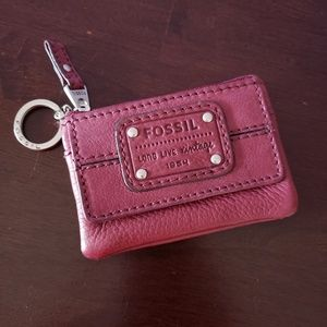 Fossil card wallet coin keychain